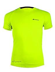 Nuckily Maillot de Cyclisme Homme Adulte Manches Courtes Vélo Tee-shirt Hauts/Top Séchage rapide Polyester Elasthanne Térylène Couleur