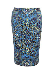 cheap -Women's Daily Beach Going out Holiday Midi Skirts,Casual Boho Street chic Bodycon Milk Fiber Print Summer