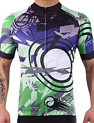 Cycling Jersey Men's Women's Short Sleeves Bike Jersey Fast Dry Lightweight Reduces Chafing High Elasticity Spandex 100% Polyester LYCRA®