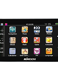 Kkmoon 7 portable hd écran gps navigator 128mb ram 4gb rom mp3 fm video play bluetooth système de divertissement voiture avec support
