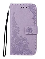 preiswerte -Hülle Für Samsung Galaxy J5 (2016) J3 (2016) Kreditkartenfächer Geldbeutel mit Halterung Flipbare Hülle Geprägt Muster Handyhülle für das