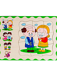 economico -Strumento didattico Montessori Puzzle Modellini di legno Gioco educativo Quadrato 3D Istruzione di legno Legno 1-3 anni 3-6 anni