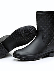 cheap -Women's Boots Rain Boots Spring Summer Leatherette Casual Outdoor Black Navy Blue Under 1in