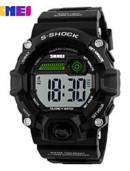 Недорогие -SKMEI Муж. электронные часы Модные часы Наручные часы Спортивные часы Цифровой PU Группа Черный
