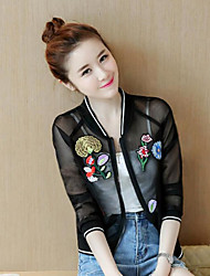 cheap -Women's Jacket - Floral / Pattern Stand / Spring / Summer