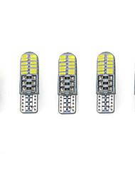 3w белый dc12v t10 smd3014 24led canbus декоративная лампа для чтения лампа номерной знак светло-дверная лампа 5 шт.