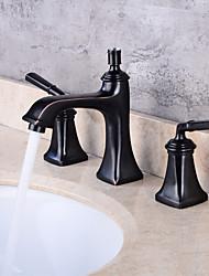 Udspredt To Håndtag tre huller Håndvasken vandhane