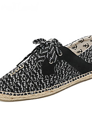 cheap -Men's Sneakers Moccasin Espadrilles Light Soles Summer Fall Knit Cotton Casual Party & Evening Office & Career Split Joint Gore Draped