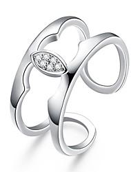 Women's Ring AAA Cubic Zirconia Basic Circular Unique Design Tattoo Style Rhinestone Natural Geometric Circle Friendship Fashion Turkish