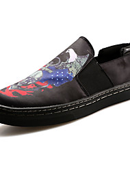 cheap -Men's Sneakers Light Soles Summer PU Casual Outdoor Animal Print Flat Heel Black/White Black/Red Red/White Blue/Black Flat