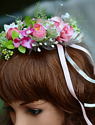 YUXIYING Little Camellia Wedding Flower Girl  Bridal Head Wreath  Flower Short Style  More Colors