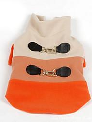 preiswerte -Hund Pullover Hundekleidung Atmungsaktiv Lässig/Alltäglich Britisch Orange Blau Kostüm Für Haustiere