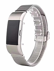 cheap -For Fitbit Charge 2 Band Clasp Type Milanese Loop Stainless Steel