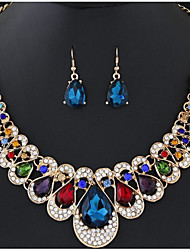 cheap -Women's Drop Earrings Pendant Necklace Chain Necklace Synthetic Diamond Rhinestone Acrylic Drop Luxury Unique Design Dangling Style