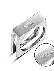 cheap -New polished stainless steel Metrosexual ring lettering trade gaming spot supply