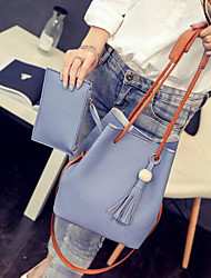 Women Bags All Seasons PU Polyester Tote for Casual Outdoor Blushing Pink Gray Light Blue