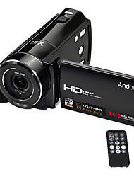 Andoer®HDV-V7 1080P Full HD Digital Video Camera Camcorder Max. 24 Mega Pixels 16 Digital Zoom with 3.0 Rotatable LCD Screen Support Face Detection