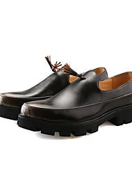 Herren Schuhe PU Frühling Herbst Springerstiefel formale Schuhe Outdoor Schnürsenkel Für Normal Schwarz Dunkel Braun Rot