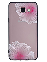 For Samsung Galaxy A5(2017) A3(2017) Phone Case Combo Pink Flower Pattern Painted Varnish Embossed Scrub Phone Case A5(2016) A3(2016)