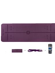 Недорогие -Коврик для фитнеса Противоскользящий TPE, Бирюза Для Светло-лиловый, Темно-лиловый, Бирюзовый