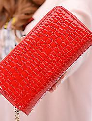 Women Coin Purse PU All Seasons Rectangle Zipper Black Red Yellow