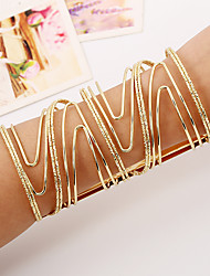 cheap -Women's Bangles Cuff Bracelet Rock Fashion Punk Ferroalloy Metal Alloy Rectangle Jewelry For Party Casual/Daily Athleisure Date Street