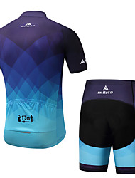 cheap -Miloto Men's Short Sleeves Cycling Jersey with Shorts - Blue Bike Padded Shorts / Chamois Clothing Suits Summer, Spandex