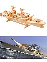 Недорогие -3D пазлы / Пазлы / Наборы для моделирования Военные корабли / Авианосец Своими руками деревянный Авианосец Детские Универсальные Подарок