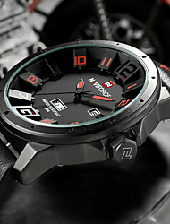 Luxury Brand Military Watches Men Quartz Analog 3D Face Leather Clock Man Sports Watches Army Watch Relogios Masculino