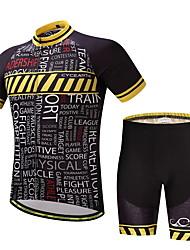 Maillot et Cuissard de Cyclisme Homme Vélo Ensemble de Vêtements Ventilation Séchage rapide Poche arrière Printemps/Automne Eté