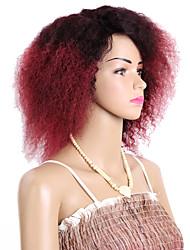 Недорогие -Кудрявые косы Косы Кудрявый 8 дюйм Вязание крючком с человеческими волосами 100% волосы канеколон Черный Черный / Клубника Blonde Черный