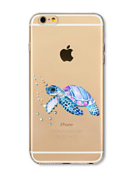 Etui til iphone 7 plus 7 cover gennemsigtigt mønster bagcover case sea turtle soft tpu til iphone 6s plus 6 plus 6s 6 se 5s 5c 5 4s 4