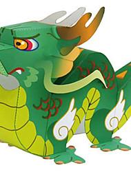 baratos -Quebra-Cabeças 3D Maquetes de Papel Animais Faça Você Mesmo Cartão de Papel Duro Estilo Chinês Crianças Unisexo Dom