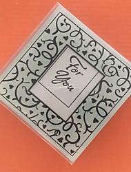 Coasters de porta-copos de vidro - 2 peças / set favores de casamento de casamento romance
