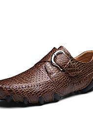 Недорогие -Муж. Легкие подошвы Кожа Весна / Лето На каждый день / Удобная обувь Кеды Черный / Коричневый