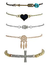 Femme Chaînes & Bracelets Charmes pour Bracelets Bracelets de rive Gothique Style Punk Pierre Alliage de métal Résine AlliageForme
