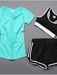 cheap -Women's Tracksuit Short Sleeves Cycling Basketball / Soccer / Football / Volleyball / Baseball Fitness, Running & Yoga Help to lose