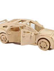 abordables -Petites Voitures Puzzles 3D Puzzle Modèle en bois Avion Automatique 3D A Faire Soi-Même Bois Classique 6 ans et plus