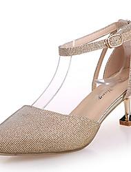 Women's Sandals Comfort Summer Rubber Walking Shoes Outdoor Buckle Low Heel Gold Silver Under 1in