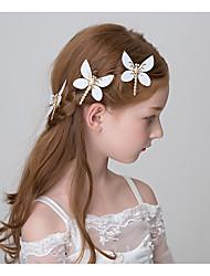 Girl's Hair Clip 3 Pcs Alloy Dragonfly Festival Performance Hair Accessory