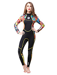 cheap -HISEA® Women's 3mm Wetsuit Skin Full Wetsuit Thermal / Warm Quick Dry Sweat-wicking Cotton Diving Suit Long Sleeves Diving Suits-Diving
