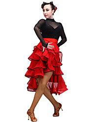 cheap -Latin Dance Women's Performance Tulle / Milk Fiber Skirts
