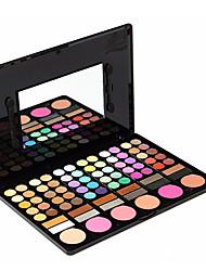 preiswerte -78 Lidschattenpalette Trocken Lidschatten-Palette Puder Alltag Make-up