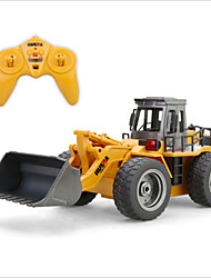 cheap -HuiNa Toys 1520 Six Channel 6CH 27HMZ 1/14 RC Metal Bulldozer Charging RC Car RTR Remote Control Toys
