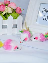 preiswerte -Katze Katzenspielsachen Haustierspielsachen Maus-Spielzeug Niedlich Maus Baumwolle Für Haustiere