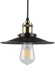 cheap -Vintage Black Pendant Lights 1-light Metal Living Room Dining Room Hallway Diameter 8.6in Pendant Lighting