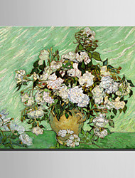 Mini Size E-HOME Oil painting Modern White Flowers And Bottles Pure Hand Draw Frameless Decorative Painting