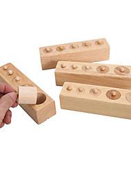 economico -Costruzioni Gioco educativo Giocattoli Quadrato Presa di legno Per bambini Pezzi