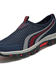 Unisex Athletic Shoes Comfort Light Soles Spring Fall Tulle Casual Outdoor Flat Heel White Fuchsia Light Purple Navy Blue Flat