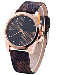 cheap -Women's Wrist watch Unique Creative Watch Casual Watch Sport Watch Fashion Watch Quartz Leather Band Luxury Creative Casual Elegant Brown